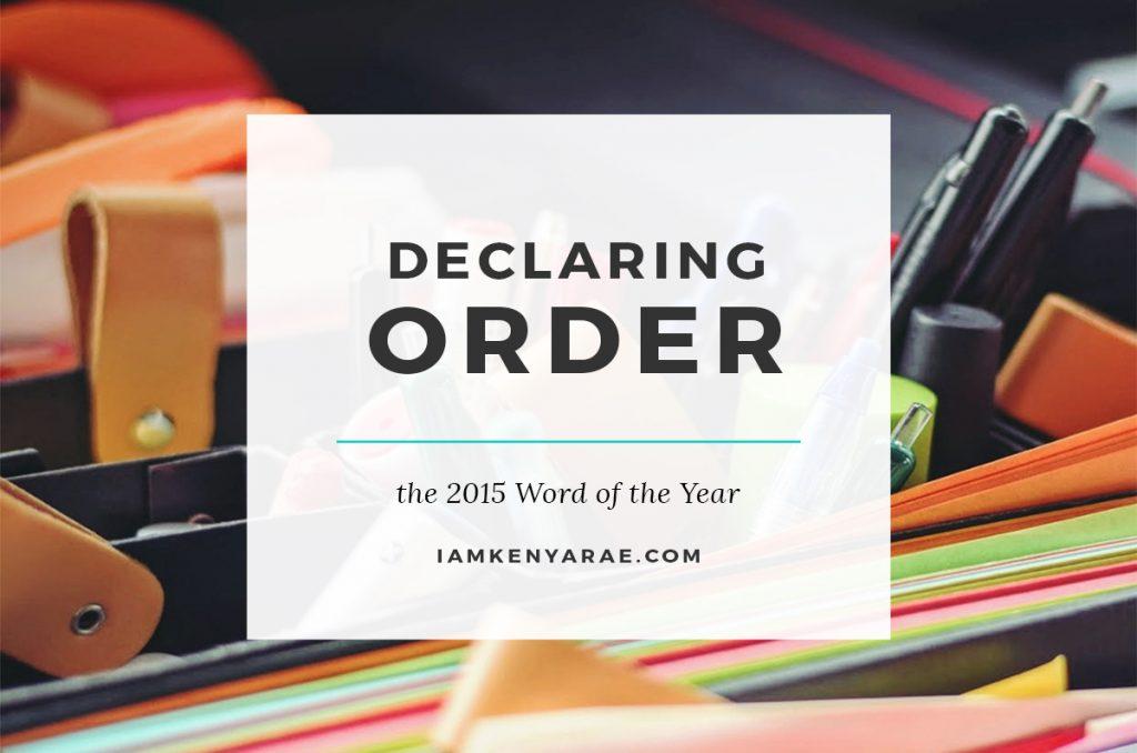 "I am Declaring ""Order"""