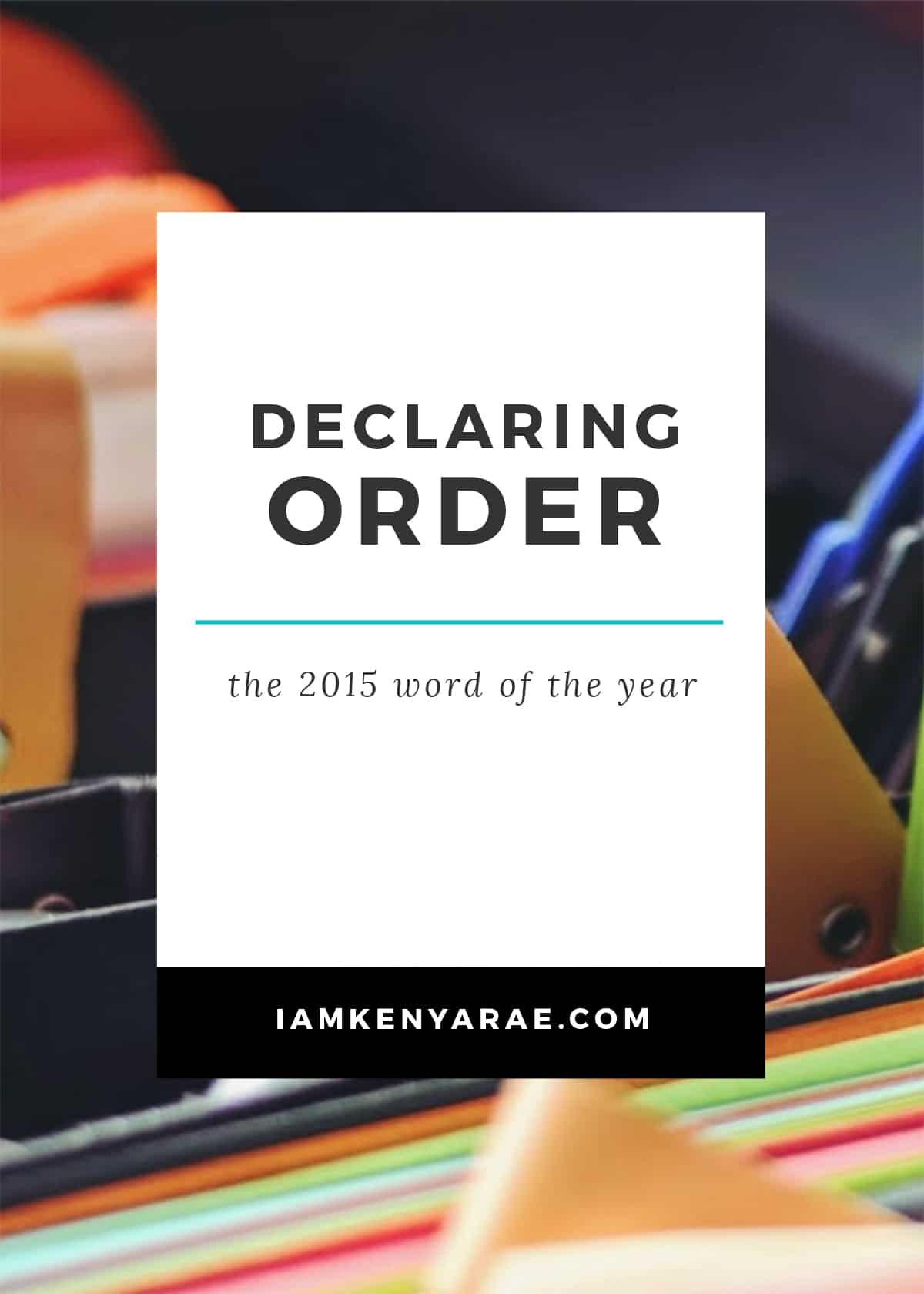 Declaring order