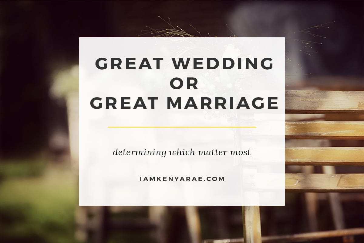 great wedding or marriage