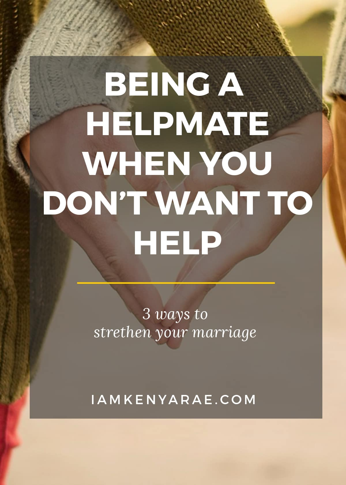 being a helpmate