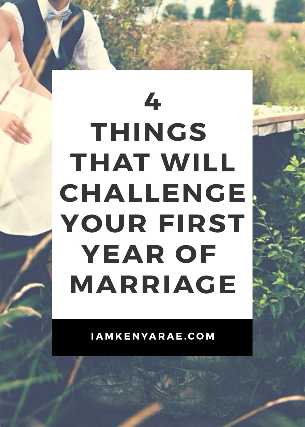 challenge first year of marriage