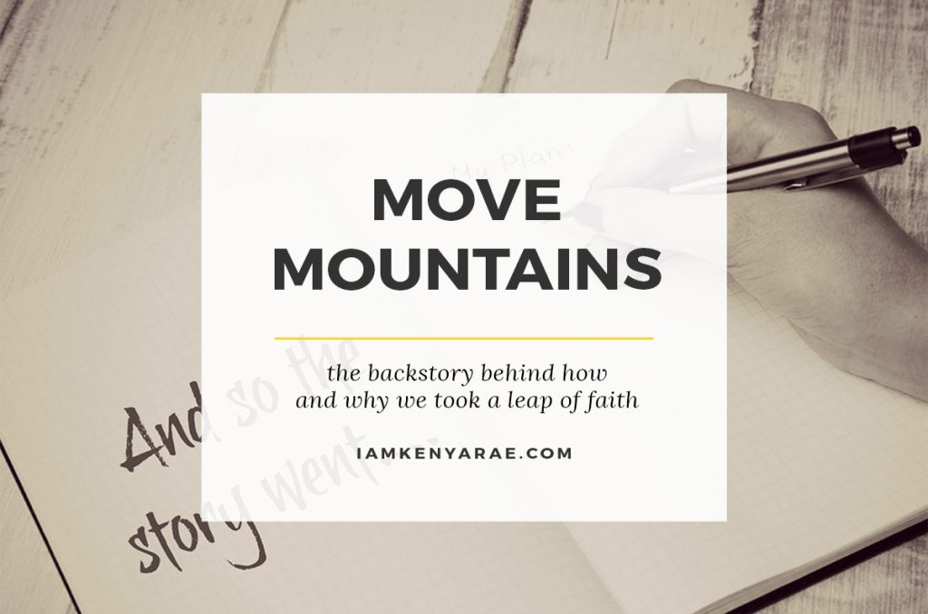 The Backstory [MOVING MOUNTAINS]