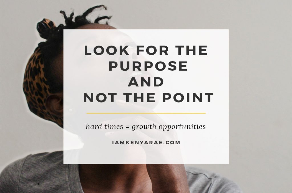 Look For the Purpose and Not the Point