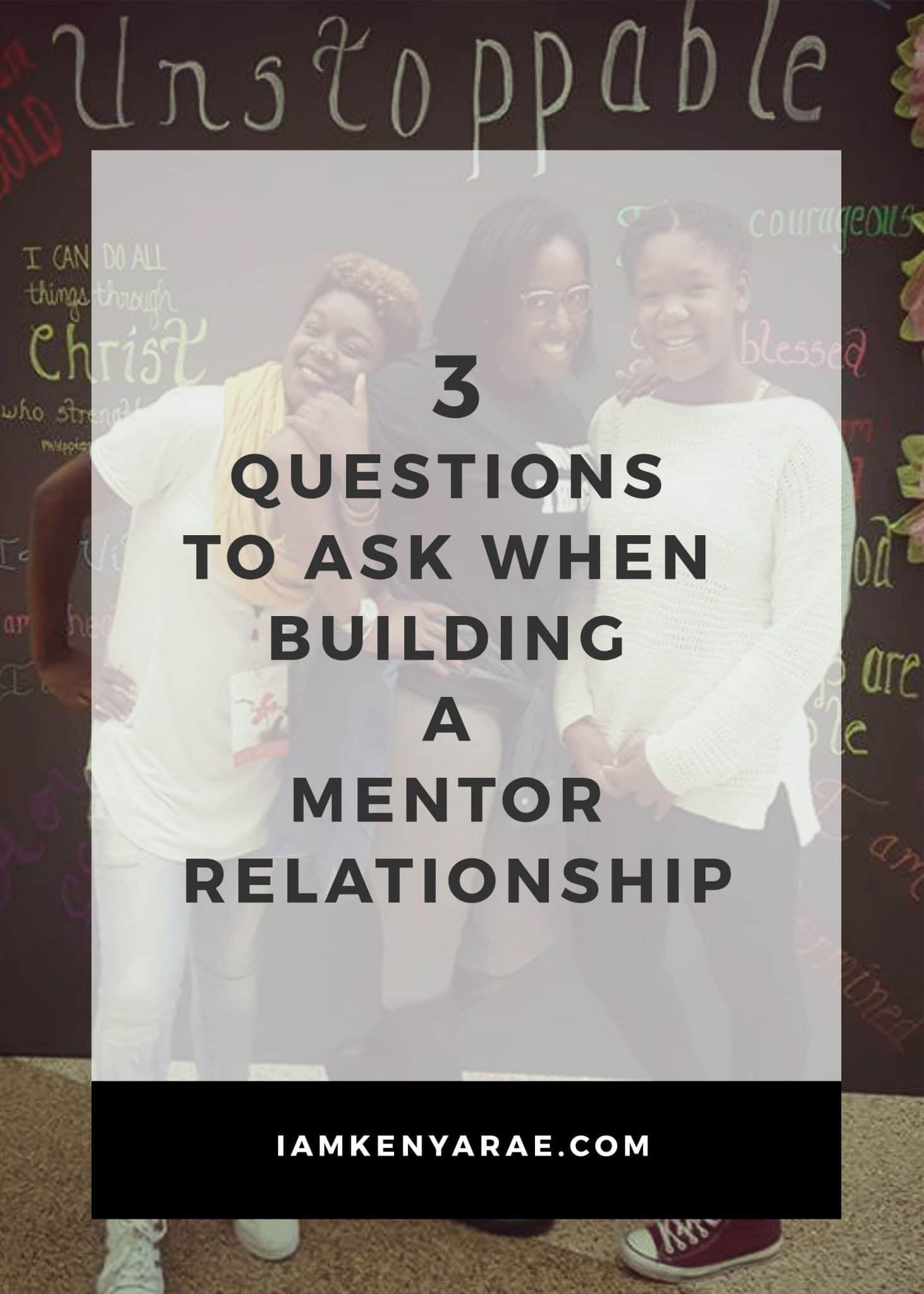 building a mentoring realtionship