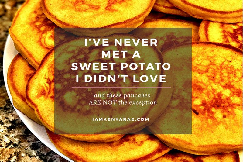 Fluffy, Buttery Sweet Potato Pancakes