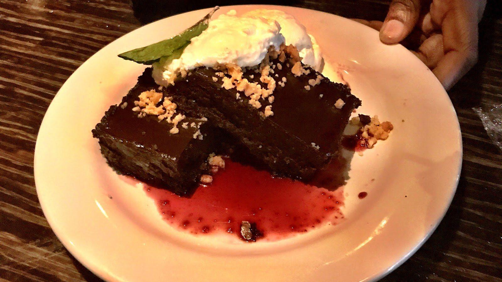 Bonefish Bar and Grill Flourless Brownie Dessert