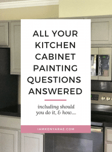 all your kitchen cabinet questions answered