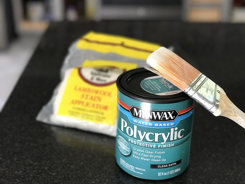 Minwax Polycrylic Satin finish