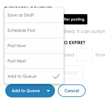 schedule your post