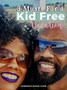 kid free vacation pinnable