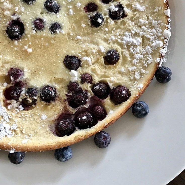 Lemon Blueberry Dutch Baby Pancake