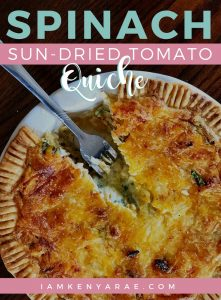 spinach sun dried quiche