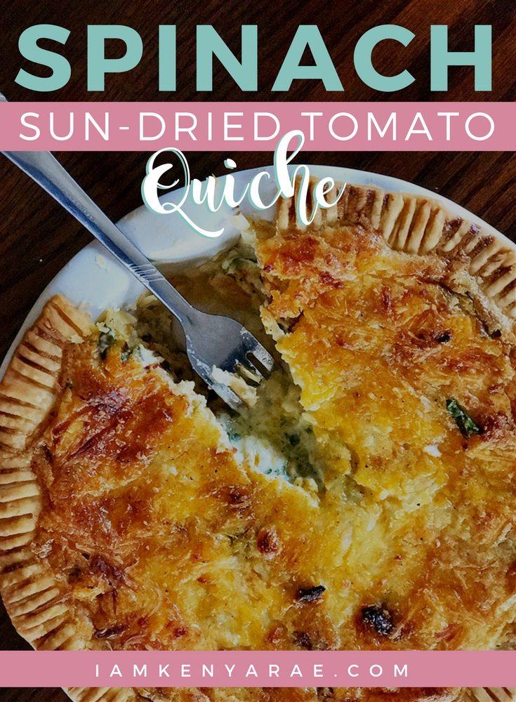 spinach sun dried quiche