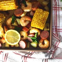 Simple & Easy Sheet Pan Shrimp Boil
