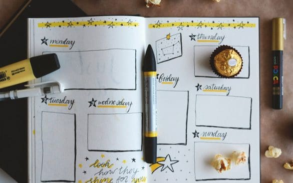 weekly family meal planning planner
