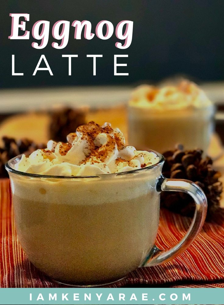 A creamy delicious holiday adult beverage that you can have before noon without judgment. Three simple ingredients to creamy goodness with this Eggnog Latte.