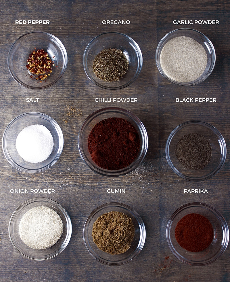 DIY Taco Seasoning Ingredients
