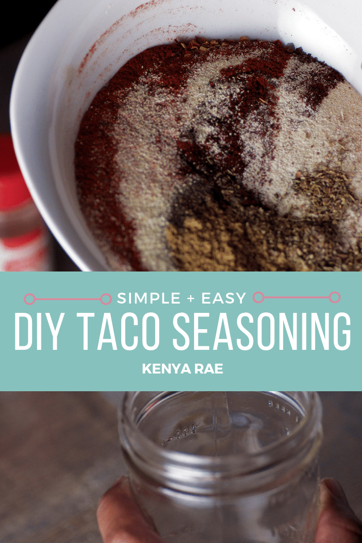 A simple and easy taco seasoning that beats any storebought packet you can get your hands on. This DIY Taco Seasoning is the perfect taco fix. #homeadetacoseasoning #tacoseasoning #diytacoseasoning #tacos #tacotuesday