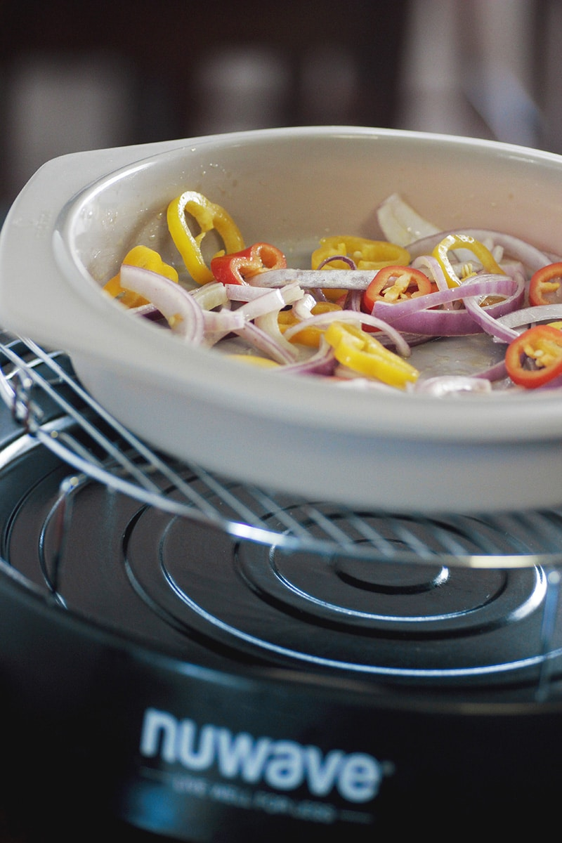 fajita peppers in nuwave oven