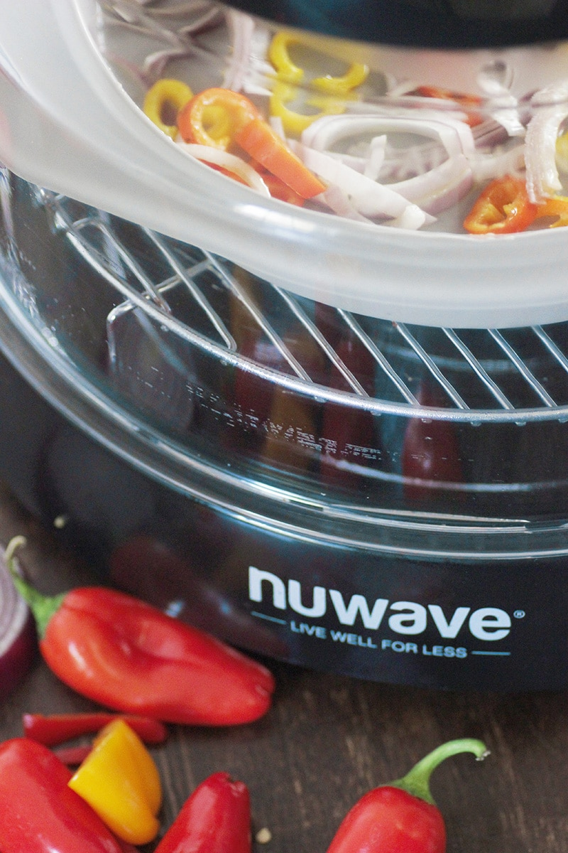 peppers onions and nuwave oven