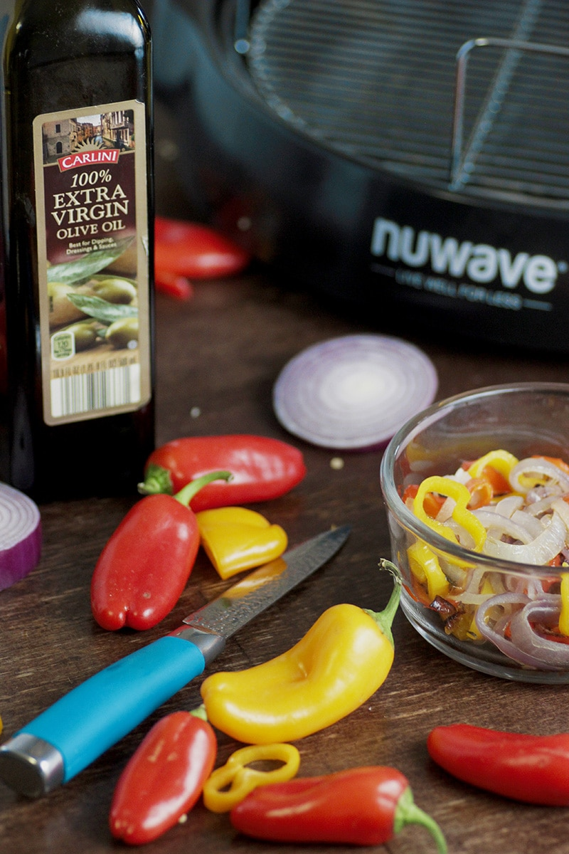 fajita peppers olive oil and nuwave oven