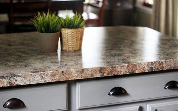 DIY painted countertop using giani granite chocolate brown
