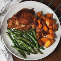 Brown Sugar Bourbon BBQ Sheet Pan Chicken Meal