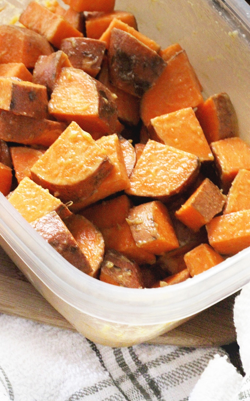 tossed sweet potatoes