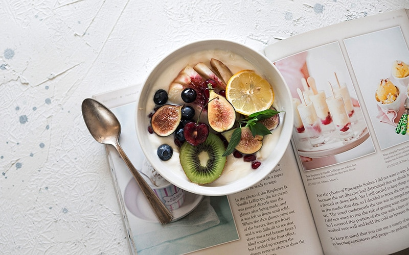 magazine and smoothie bowl recipe