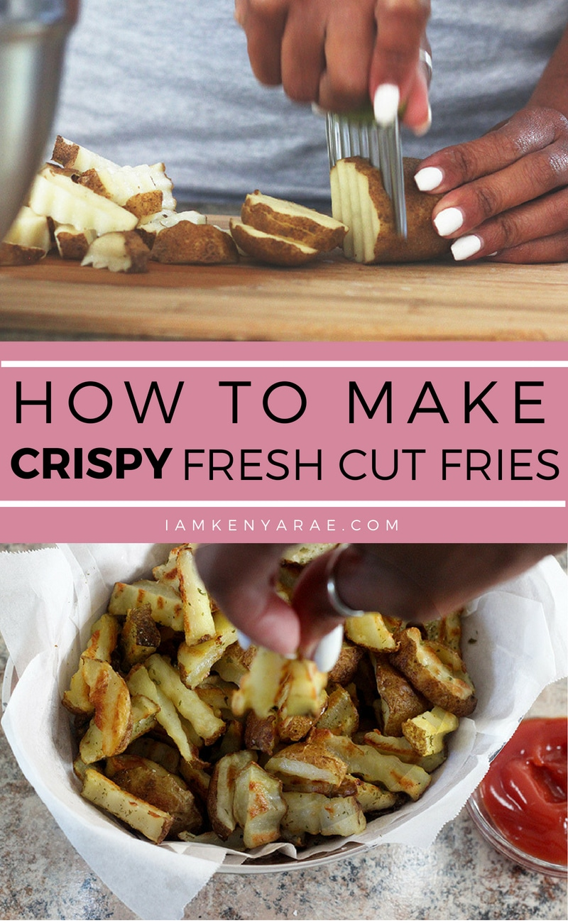 How To Make CRISPY Fresh Cut Fries In The Oven Crispy fresh cut french fries that come out perfect every time, without being deep fried! You can make crispy fresh cut fries in the oven. #frenchfries #ovenfries #potatoes #potatorecipes #freshcut #homemade