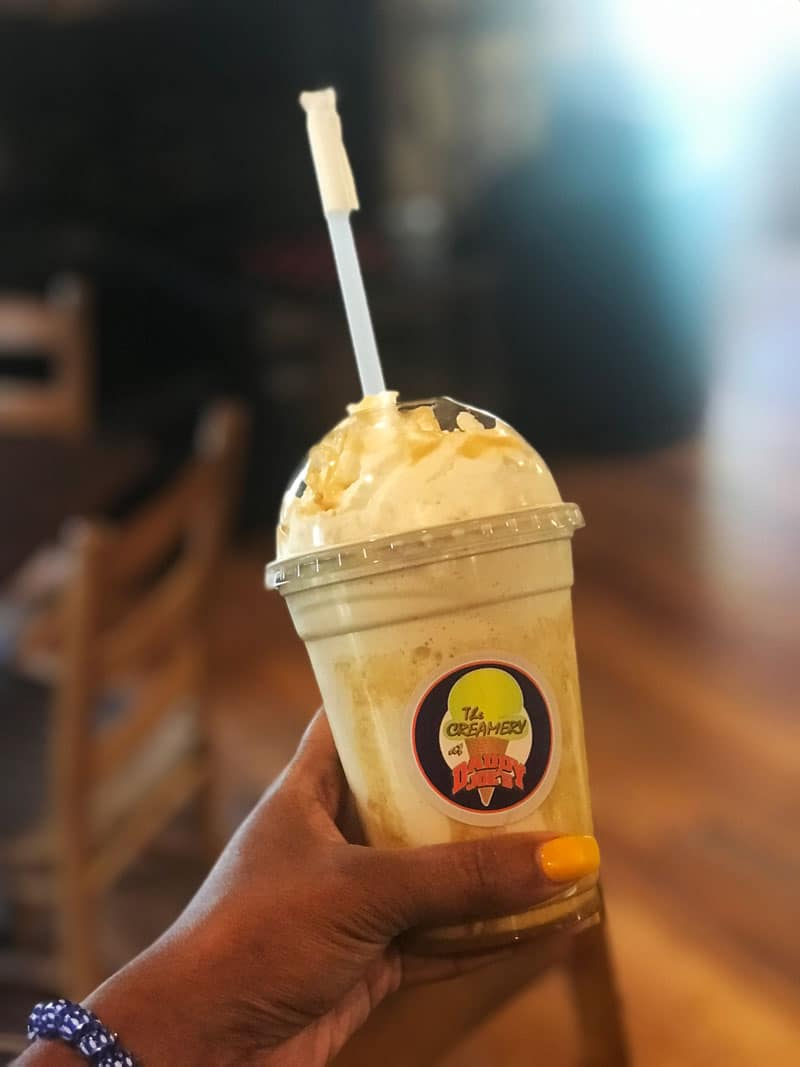 Frappe from the Creamery at Daddy Joe's