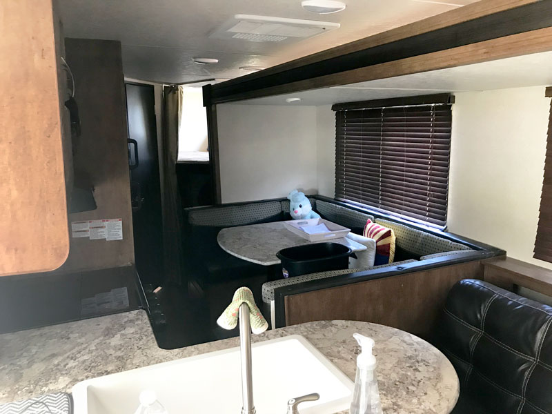 inside of RV camper
