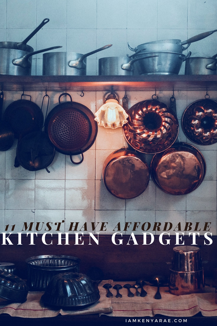 11 Must-Have Affordable Kitchen Gadgets A list of reasonably priced gadgets that help make meal preparation and cooking easier. #cooking #kitchengadgets #kitchentools #recipe #foodblogger #foodblog #cookingtips #howtocook