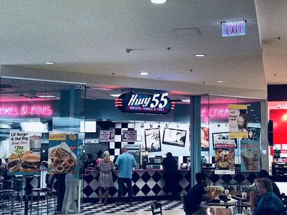 Hwy 55 at Crabtree Valley Mall