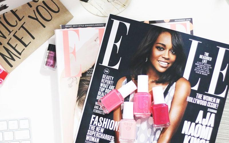 magazines on desk