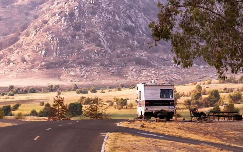 motorhome versus towable camper
