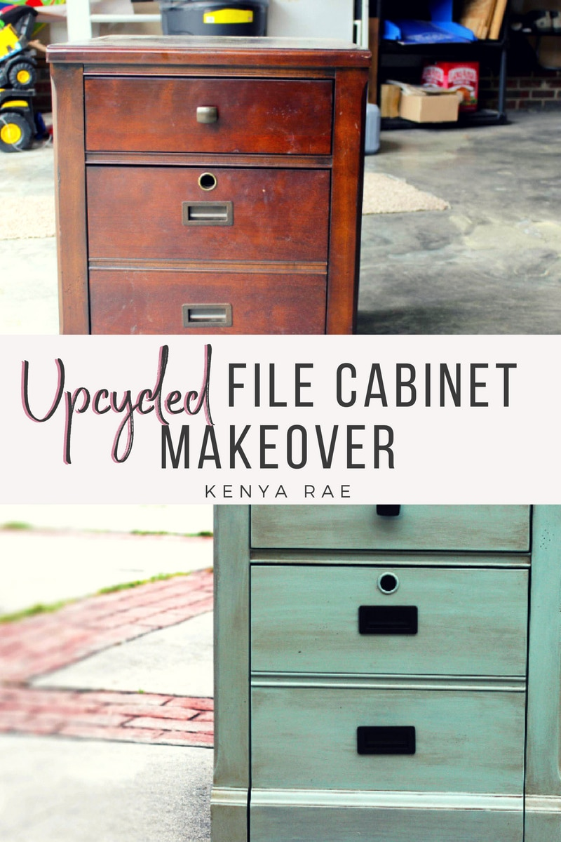 DIY Upcycled File Cabinet Using DecoArt Chalk Paint How I took this old wood file cabinet and updated it with a few coats of #chalkpaint and  #cremewax to make it brand new. #furniturerestoration #antiquingwax #waxfurniture #DIYprojects #furnituremakeover #decoart #americanadecor
