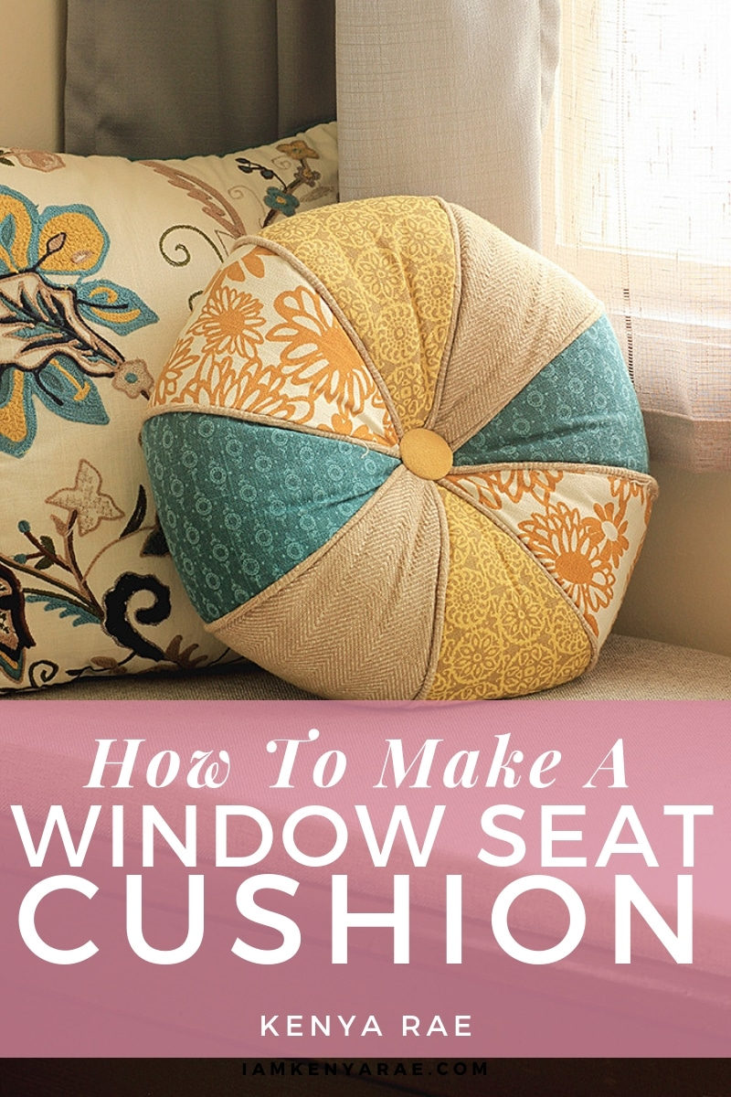 Have a window seat? Does it need a new cushion?  You're gonna want to read this to see how easy and quick you can make a new window seat cushion for your window seat even if you already have one! #diy #windowseat #windowseatcushion #homedecor #DIYhomedecor
