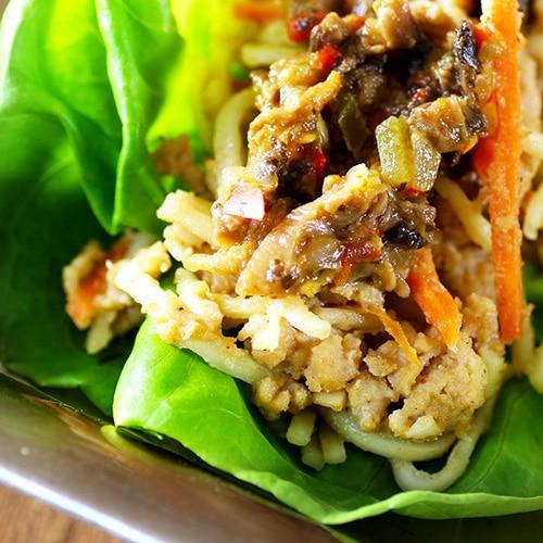 Coconut Cashew Lettuce Wraps