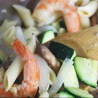 Shrimp + Zucchini Penne Pasta