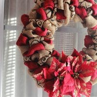 DIY Christmas Burlap Wreath