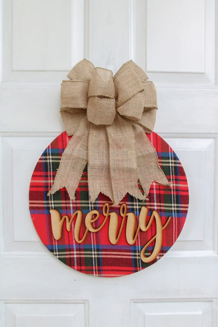 Simple + Cozy Plaid Wreath