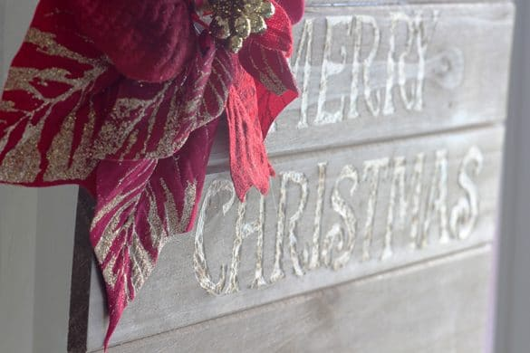 simple wooden Christmas sign