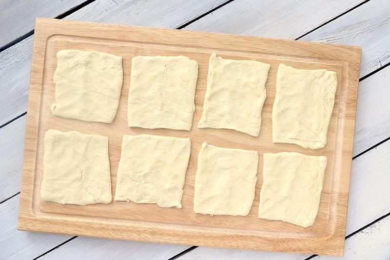 8 squares crescent rolls