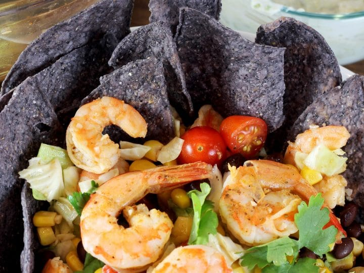 Fiesta Southwest Shrimp Taco Salad