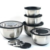 Stainless Steel Mixing Bowl Set of 5 with Graters