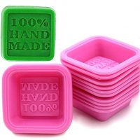 SCStyle (10-Pack) Soap Molds - 100% Handmade Square Silicon - Sapone