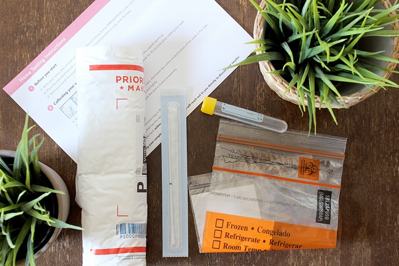 contents of the home HPV kit