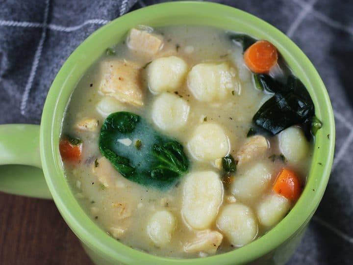 Copycat Olive Garden Chicken Gnocchi Inspired Soup