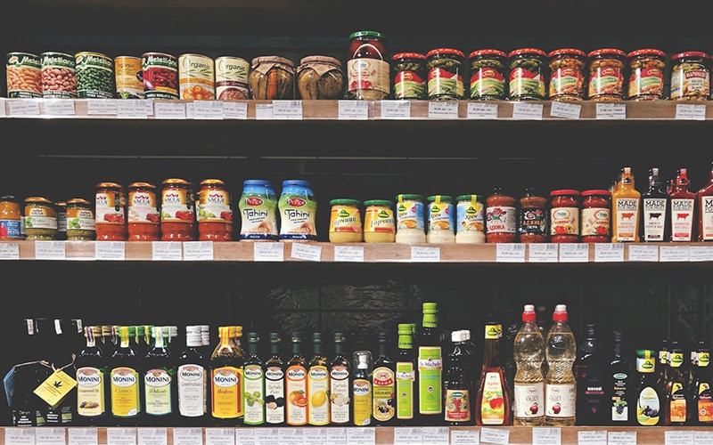 Looking above and below eye level in the grocery store